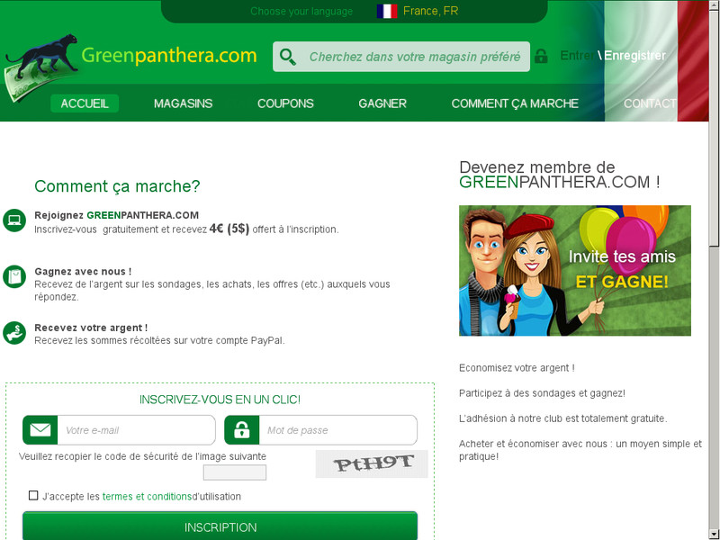 Site web Greenpanthera