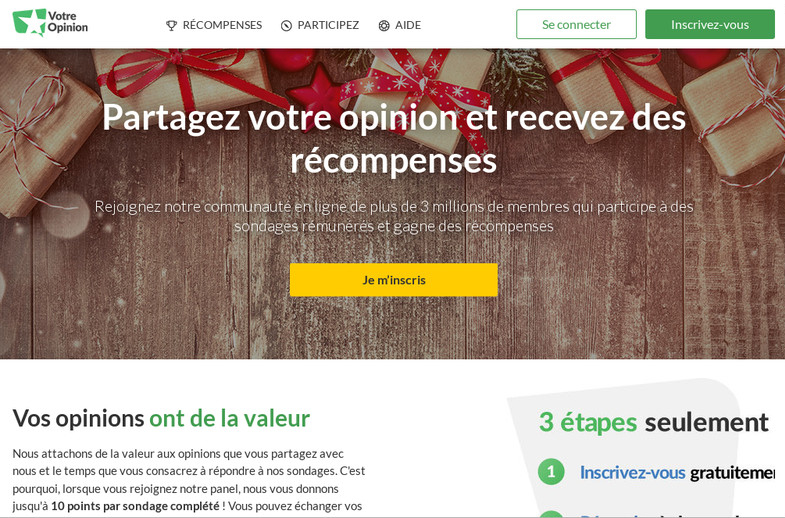 Site web Votre Opinion